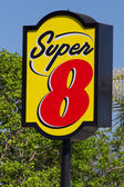 Super 8 Motel Sign — Stock Photo