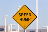 Speed Hump Sign — Foto de Stock