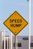 Speed Hump Sign — Stock Photo