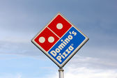 Domino's Restaurant Sign — Stock Photo
