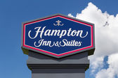 Hampton Inn and Suites Sign — Stock Photo