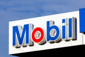 Mobil Oil Gas Station Sign — Stock Photo