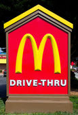 McDonald's Drive-Thru Sign — Stock Photo