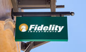 Fidelity Investments Sign — Stock Photo