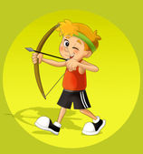 Kid shooting — Stock Photo