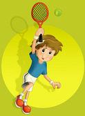Kid playing tennis — Stock Photo