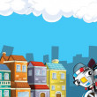Cartoon city look — 图库照片