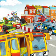Stockfoto: The illustration with many vehicles