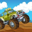 Off road cartoon car — Photo
