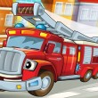 Fire truck to the rescue — Stock Photo