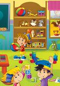 Cartoon kindergarten — Stockfoto
