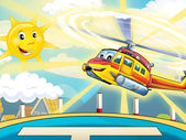 Happy heli flying — Stock Photo