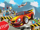 Speeding car — Stock Photo