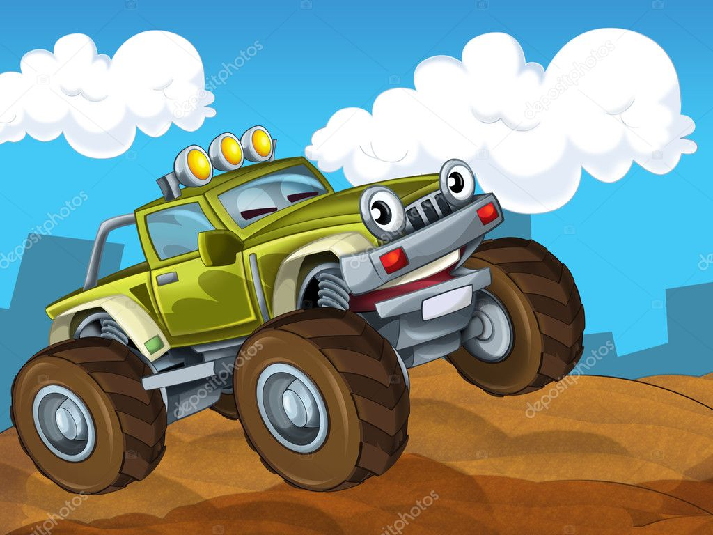 Off road cartoon car  — Stock Photo #12056385