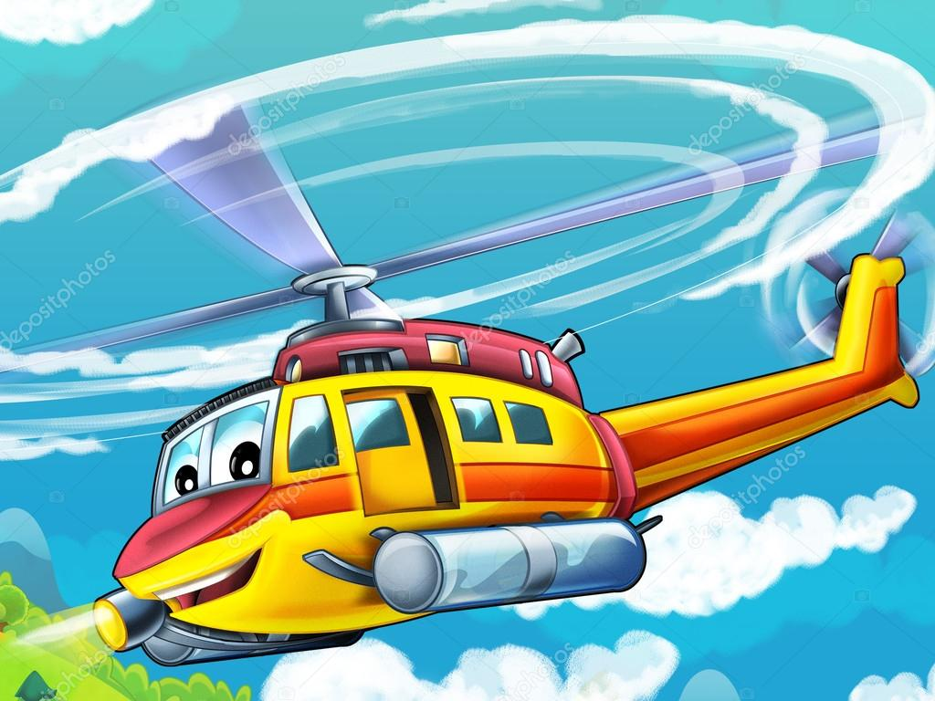 Cartoon helicopter — Photo by