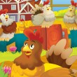 Hens chatting — Stock Photo