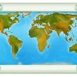 Stock Photo: Map of the world