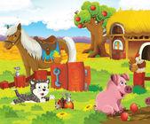 Animals at the farm — Stock Photo