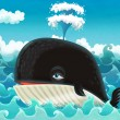Cartoon whale — Stock Photo