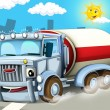 The truck on the highway — Stock Photo