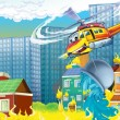 Helicopter rescue situation — Stock Photo