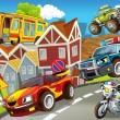 Stock Photo: Vehicles in city, urbchaos