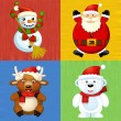 Stock Photo: The design set of different christmas happy symbols