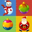The design set of different christmas happy symbols — Stock Photo