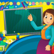 Having fun and learn - time to school or kindergarten - space for text — Stock Photo