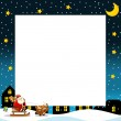 The christmas border - square frame - stylish - elegant - space for text — Stock Photo