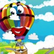 Stock Photo: Smiling balloon flying