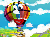 The smiling balloon flying — Stock Photo