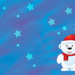 The christmas polar bear — Stock Photo #12212462