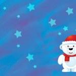 The christmas polar bear — Stock Photo