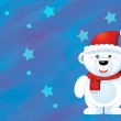 The christmas polar bear — Stock Photo #12212499