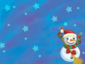 The christmas snowman — Stock Photo