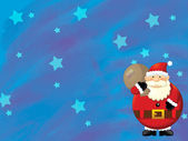 The christmas santa claus — Stock Photo