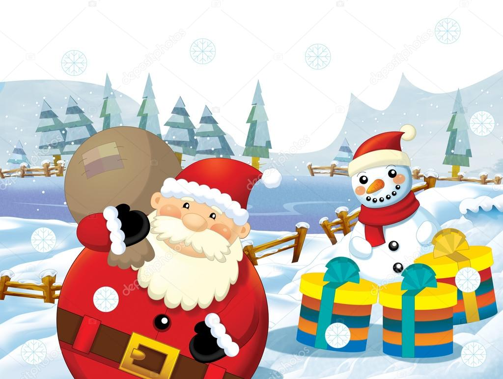 The christmas gang - funny illustration for the children — Photo #12215678