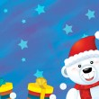 The christmas polar bear — Stock Photo #12221190