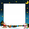 The christmas border - square frame — Stock Photo
