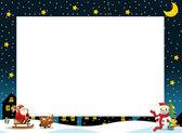 De grens van de kerst - vierkante frame — Stockfoto