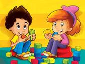 Children in the kindergarten — Stock Photo
