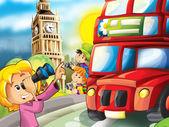 London - main symbols of the city — Stock Photo