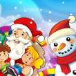 Santclaus with kids — Stock Photo #12262080
