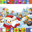 The christmas frame with lot of elements — Stock Photo #12274367