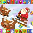 The christmas frame with lot of elements — Stock Photo