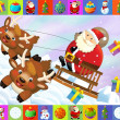 Stock Photo: The christmas frame with lot of elements