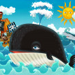 The pirates and whale — Stock Photo