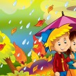 Stock Photo: Rainy day in autumn