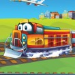 Stock Photo: Little cartoon train